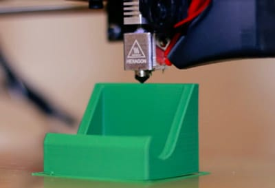 3D printer printing a prototype component